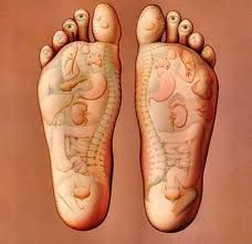 feet reflexolgy map relating to body parts